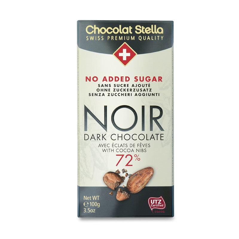 Swiss chocolat no added sugar